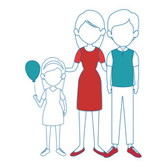 family with kids icon over white background colorful design vector illustration