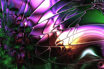 Fractal image: colorful world