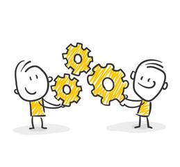 Strichfiguren / Strichmännchen: Strategie, Arbeit, planen. (Nr. 28)