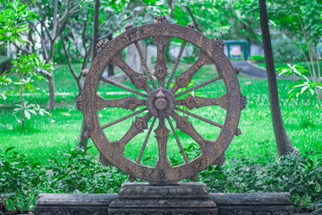 Wheel of life or Dharmachakra, Wheel of Dhamma