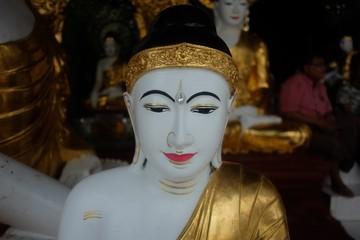 Buddha myanmar at Shwethalyaung pagoda place