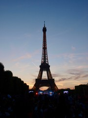 Eiffel Tower in Bastille Day/Champ de Mars,Paris