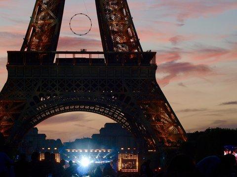 Eiffel Tower in Bastille Day/Champ de Mars,Paris