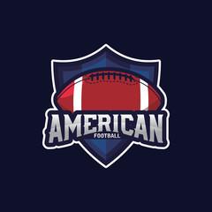 American Football Sport Logo Emblem, Logo Template Designs