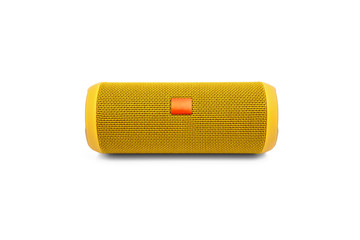Bluetooth portable speaker on white