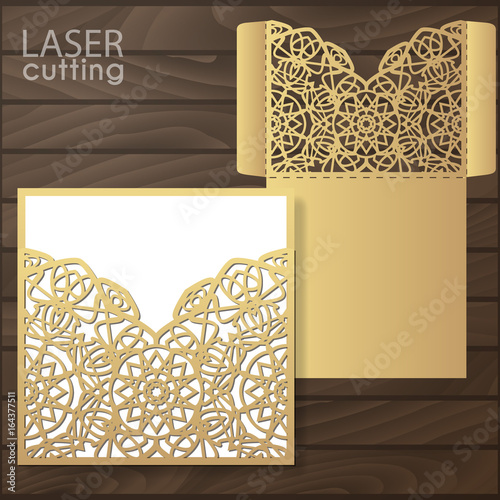 Die laser cut wedding card vector template invitation envelope die laser cut wedding card vector template invitation envelope wedding lace invitation mockup stopboris Images