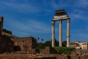 Ruins of Forum Romanum in Rome, Italy
