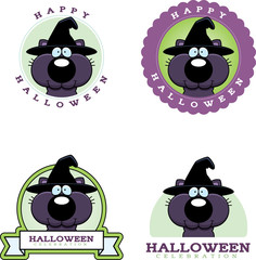 Cartoon Witch Cat Halloween Graphic