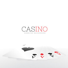 playing card set on white background