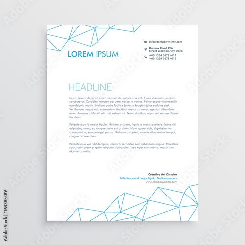 Minimal letterhead design template with lines array stock image and minimal letterhead design template with lines array spiritdancerdesigns Choice Image
