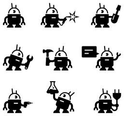 Robots Icons - Black Series