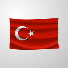 Realistic turkey flag, official colors and proportion correctly. The national flag of Turkey. Flag of Turkey vector illustration. Turkey flag vector background. National Unity Day.