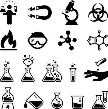 Chemistry Icons - Black Series