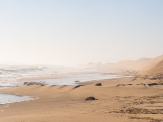 Beach in Sandwich Harbour, Namibia