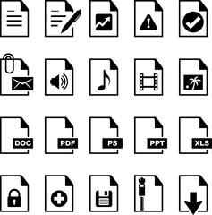 Documents Icons - Black Series