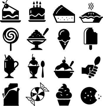 Dessert Icons - Black Series