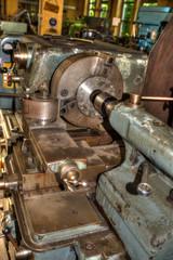 Alte Werkzeugmaschine Drehbank