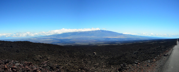 Mauna Kea from Mauna Loa