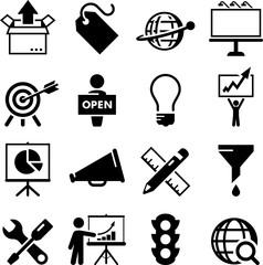 Marketing Icons - Black Series