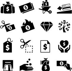 Money Icons - Black Series
