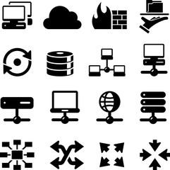 Network Icons - Black Series