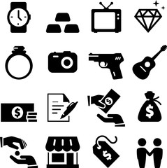 Pawn Shop Icons - Black Series