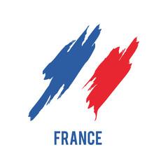 France flag background vector