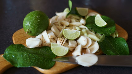 Lime Thai soup.