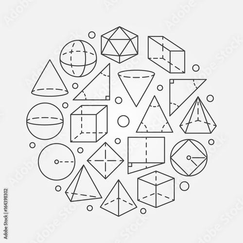 Geometry mathematics illustration