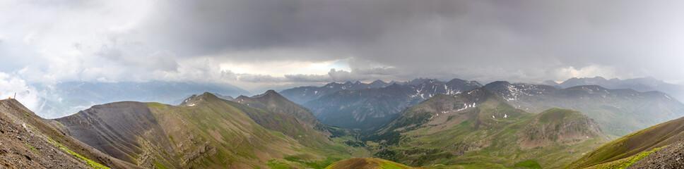 Panorama vu de la cime de la Bonette (2800m)