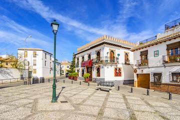 Little square in Albaicin, Granada,Andalusia,Spain Wall mural