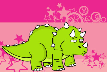 cute baby triceratops cartoon expressions set in vector format very easy to edit