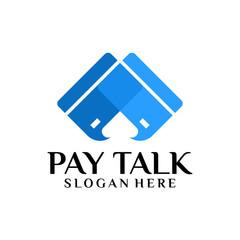 Payment Conversation Logo template designs vector illustration