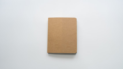 Wall Mural - notebook on white background