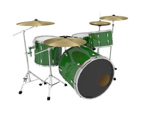 jazz set of green drums