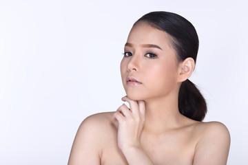 Beautiful Spa Healthy Skin Care Woman straight black hair