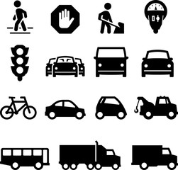 Traffic Icons - Black Series