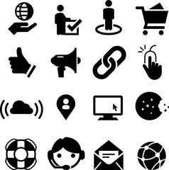 Web Site Icons - Black Series