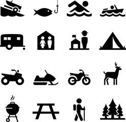 Recreation Icons - Black Series