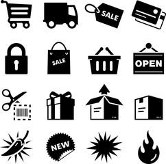 Shopping Icons - Black Series