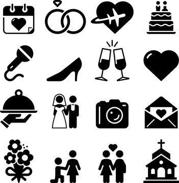 Wedding Icons - Black Series