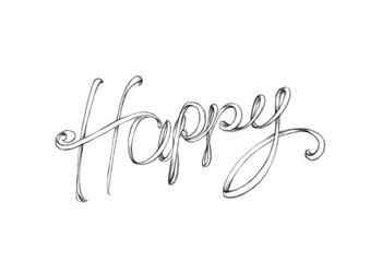 Schriftzug Happy