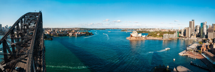 The Shadow of the Bridge over Sydney Harbour, Australia