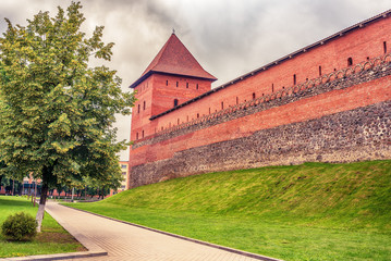 Belarus: Lida, Lyda castle in the summer