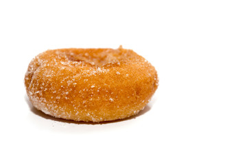 donut on white plate isolated on white