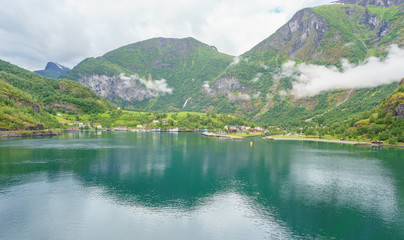Flam am Aurlandsfjord in Norwegen
