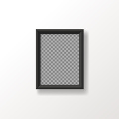 vector  empty mock up poster frame on the wall . template