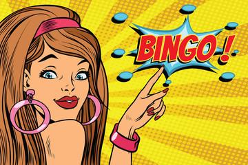 pop art woman bingo