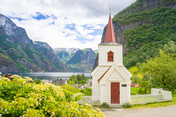 Stabkirche in Undredal, Norwegen