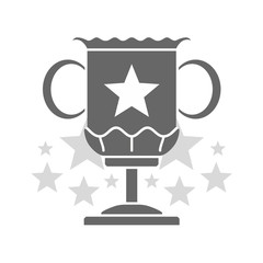 Trophy Cup In Trendy Flat Style Icon Champion Simple Winner Symbol